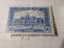 HONGRIE 1920, timbre CLASSIQUE 310, PARLEMENT, oblitéré, VF CANCEL STAMP