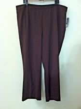 New 2XWP petite Catherine woman plus pant brown pull up elastic waist work size