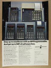 1979 Hewlett-Packard HP 33E 38E 29C 19C 67 & 97 Calculators vintage print Ad