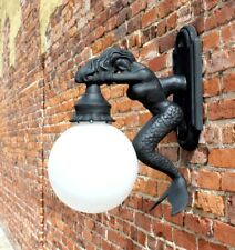 Outdoor Mermaid Wall Light Sconce Fixture Vintage Style Nautical Sea Beach