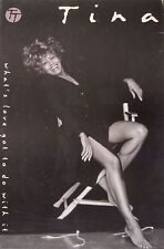 """TINA TURNER """"WHAT'S LOVE GOT TO DO WITH IT"""" U.S. PROMO POSTER - Tina In Chair"""