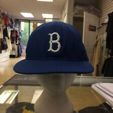 Vintage Brooklyn Dodgers Fitted Hat Sz 7/12 1980s