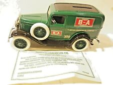 Ertl Ford 1932 British American B-A Panel Delivery Van Bank 1:25 Scale Die Cast