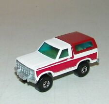 Hot Wheels Red and White Ford Bronco 1980 Hong Kong Mattel Near Mint