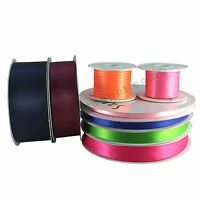 "Satin Ribbon Polyester - 1/4"" 3/8"" 5/8"" 7/8"" 1.5"" 2"" - 50, 100 Yards Roll - Bulk"