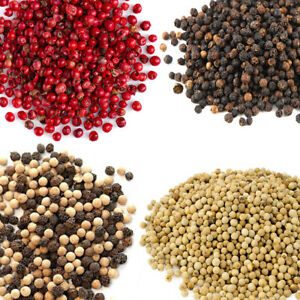 Whole Dried Peppercorns Available in Black, White, Pink & Mixed Premium Quality!