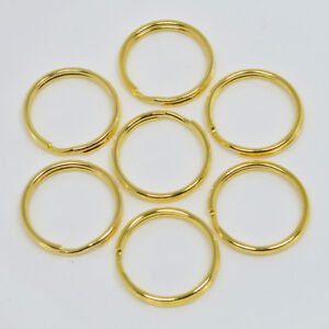 25mm GOLD TOP QUALITY ROUND SPLIT KEY RING DOUBLE LOOP CRAFTS FINDINGS KEYRINGS