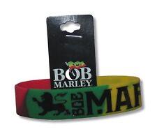 Bob Marley Lion Colorful Rubber Wristband New Official Rasta Reggae Wailers