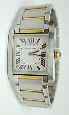 Cartier 2301 Tank Francaise 18 Karat Yellow Gold w Stainless Steel Case & Band