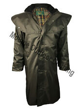 New Mens Ladies Waterproof Rain Long Cape Riding Jacket Outdoor Country Coat