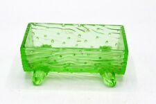 Vintage Green Depression/Vaseline Glass Town Pump Trough - Trough Only