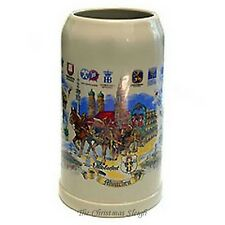 Traditional Wiesn Munich German Oktoberfest Beer Stein Mug Krug - 1 Liter