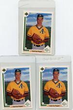 (3)1991 Upper Deck #53 Todd Van Poppel Oakland Athletics Rookie, Free Shipping!!
