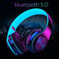❤ bluetooth 5.0 Wireless Stereo Headphones Foldable Headset Super Bass Earphones