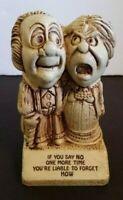 Paula Wood Statue Figurine If You Say No One More Time 1976 W510 USA Vintage