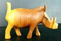WARTHOG Vintage Wood Carving Statue Hand Made Carved Figurine from Kenya, Africa