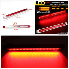 12-24V Dual Color 48LED Waterproof Car Flowing LED Brake Light Strip Turn Signal