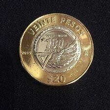 JUST RELEASED UNC MEXICO 20 PESOS 1915 - 2015 100 YEAR  MEXICAN AIR FORCE COIN