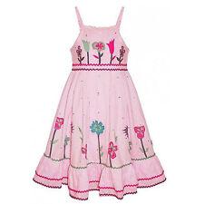 Robe Fille Par Domino Girl Rik Rak rose robe motif floral 2 ans - 8 ans