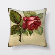 Red Rose Botanical Cushion Covers Pillow Cases Home Decor or Inner