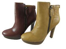 Coach Womens Chryssa Brown or Tan Casual Zipper Booties Fashion Platform Boots