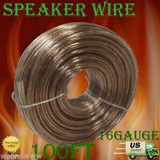 100ft 16 Gauge Speaker Wire (Connects Speakers to Amplifier/Receiver)