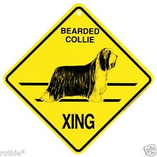 Bearded Collie Dog Crossing Xing Sign New