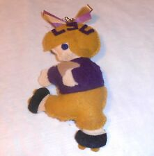 Vintage & Very Old Lsu Tigers Cloth Doll Ornament Handsewn