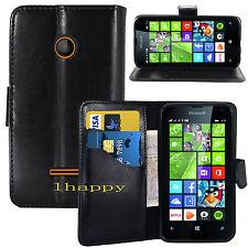 BLACK WALLET CARD SLOT stand GEL CASE FOR Microsoft Nokia lumia 435 UK seller