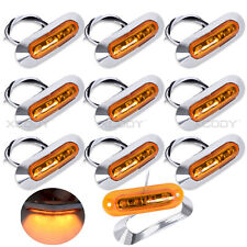 10 x Amber LED Side Marker Indicator Light Lamp for Caravan Truck Trailer Lorry