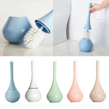 Toilet Brush Set Vented Bathroom Bowl Cleaner with Lid Cleaning Accessories