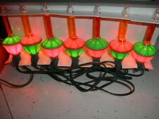 Vintage Rare SILVESTRI Christmas Bubble Lights Red & Gold Set Of 7 In The Box