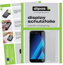 2x Samsung Galaxy A5 (2017) Schutzfolie matt Displayschutzfolie Folie dipos
