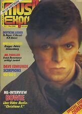 Musik Express Musikzeitschrift 1982 März Nr. 3 David Bowie Christiane F.