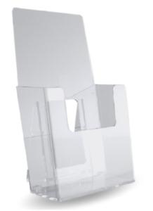 """Lot of 24 Slant Back Counter Top Brochure Holder 4"""" wide Tri Fold"""