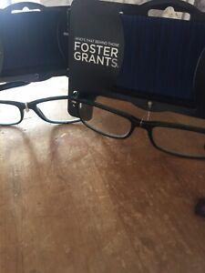 foster grant reading glasses 1.00 X2.