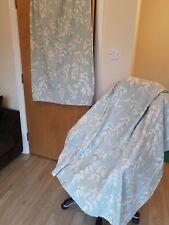 LAURA ASHLEY HOME Curtains 63 Wide 54 Long Eggshell blue Cream