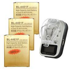 3800mAh High-Capacity BL-44E1F Battery / Charger for LG V20 H990 Stylo 3 Plus