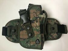 UTG Special Ops Universal Tactical Leg Holster Woodland Digital Camo