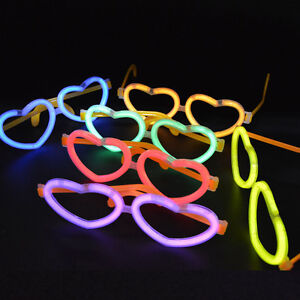 GLOW GLASSES HEART HEN STAG PARTY NEON STICK ACCESSORIES RAVE FANCY DRESS CLUB