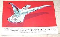 Original 1958 Ford Thunderbird Hardtop Color Sales Brochure