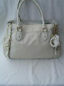 AUTHENTIC COACH SIERRA WHITE PYTHON LEATHER LARGE CARRYALL #16753 EUC