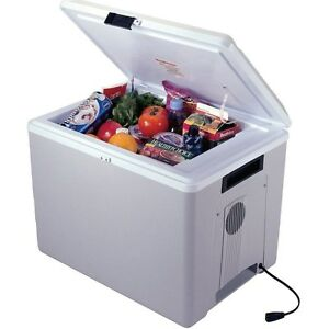 Electric 36 Qt Travel Cooler w/ Heat, 12 Volt Compact Outdoor Car Chest Fridge