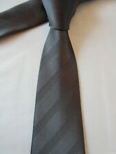 GEORGE GREY STRIPED 3.25 INCH POLYESTER NECK TIE