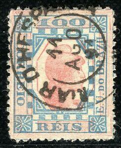 BRAZIL Stamp 100R Liberty *Mar de Espanha* 1891 CDS Used {samwells} 2RGREEN125