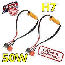 2 x h7 50w LED Errore cancelers 6ohm LED Fog Lights-Errore sicuro Free-CANBUS