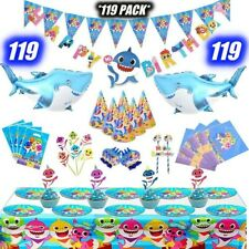 BABY SHARK PARTY SUPPLIES 🔥119🔥PACK WITH BIG SHARK BALLOONS