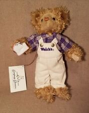 "WELCH'S Teddy Bear Peanut Butter & Jelly Sandwich 1997 Plush Collectible 13"" NEW"