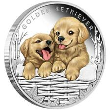 Tuvalu 50 Cents 2018 - Golden Retriever - Hundebabys (3.) - 1/2 Oz Silber PP