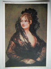 Dona Isabel Cobos De Porcel Goya Old Postcard Size Art Print National Gallery